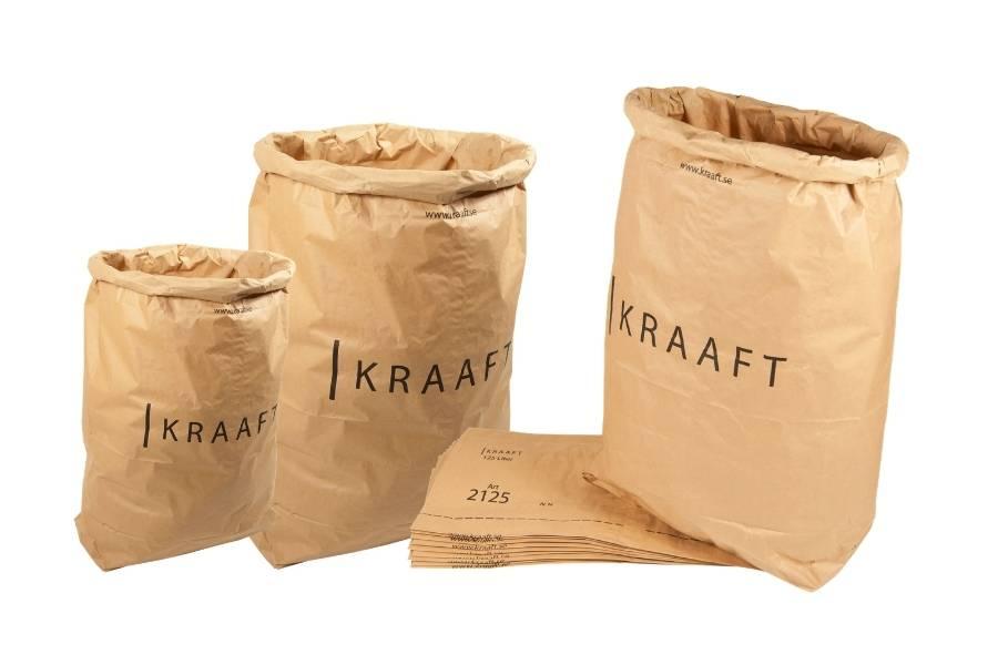 Sacchetti di carta per rifiuti in carta kraft